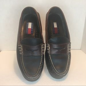 Tommy Hilfiger Vintage Leather  Loafers Sz 9 1/2 M
